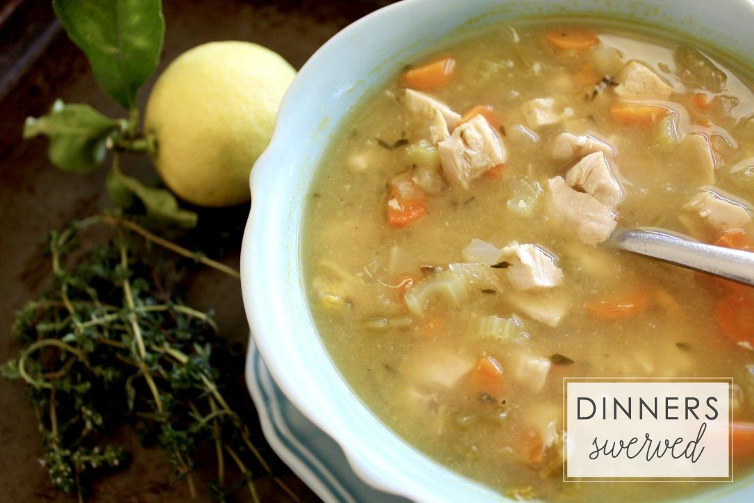 Lemon and Thyme Chicken Soup copy