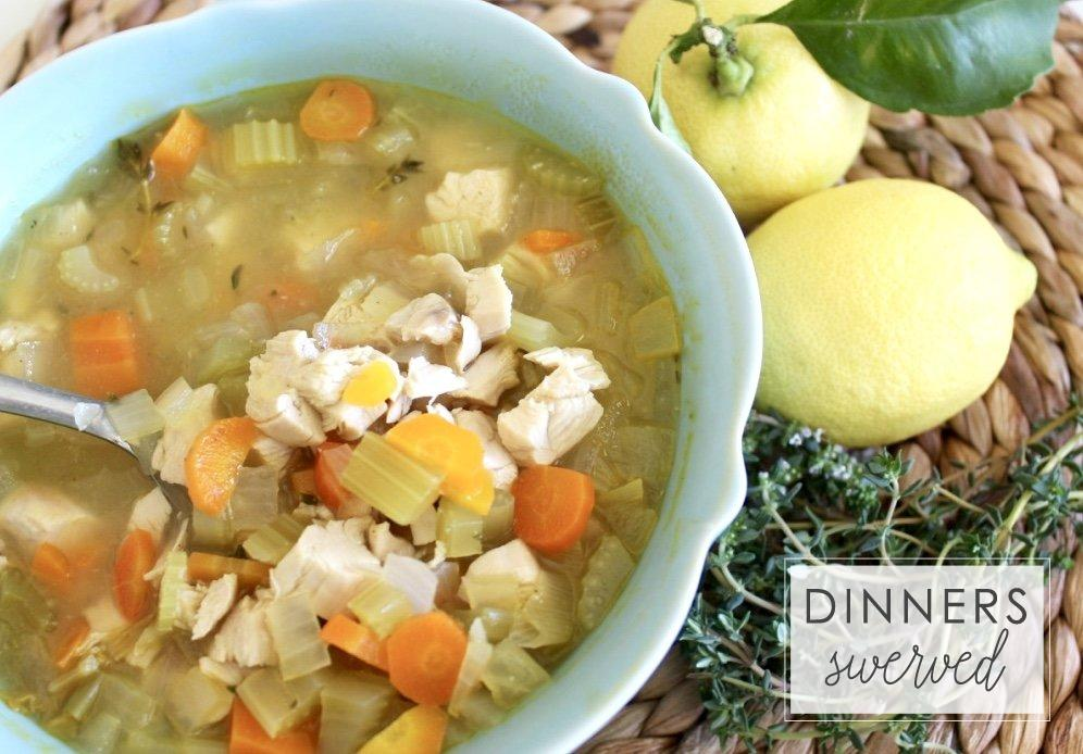 Lemon and Thyme Chicken Soup