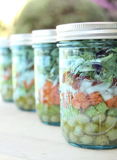 Mason Jar Salads with Citrus Vinaigrette