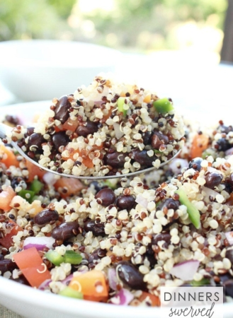 Mojito Black Bean and Quinoa Salad