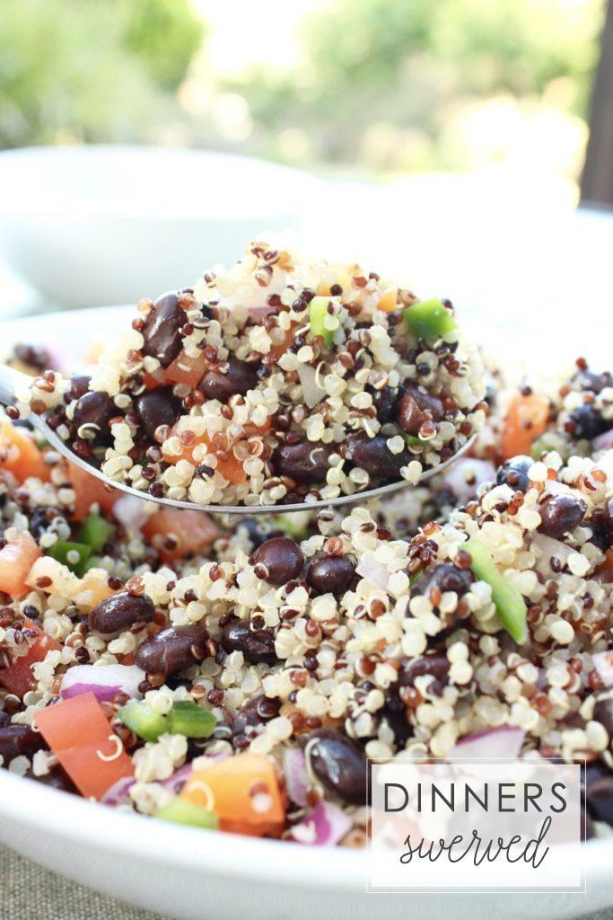 Mojito Black Bean and Quinoa Salad