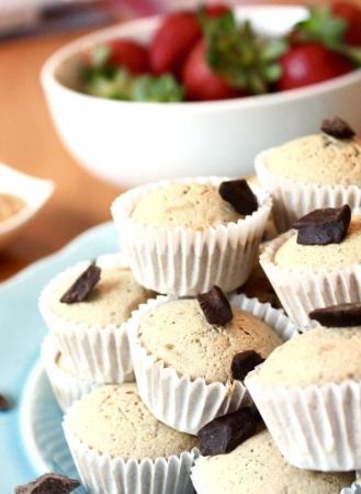 Peanut Flour Pancake Muffins